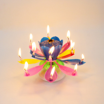 Music Birthday Candle With 14 Mini Candles