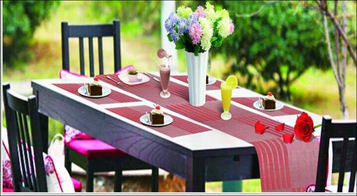 Family restaurant six pieces of PVC table mat decoration shop2