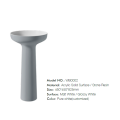 Pure acrylic stone resin column washbasin for bathroom