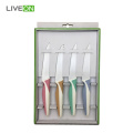 Colored Plastic PP Handle Serrated Steak Knife