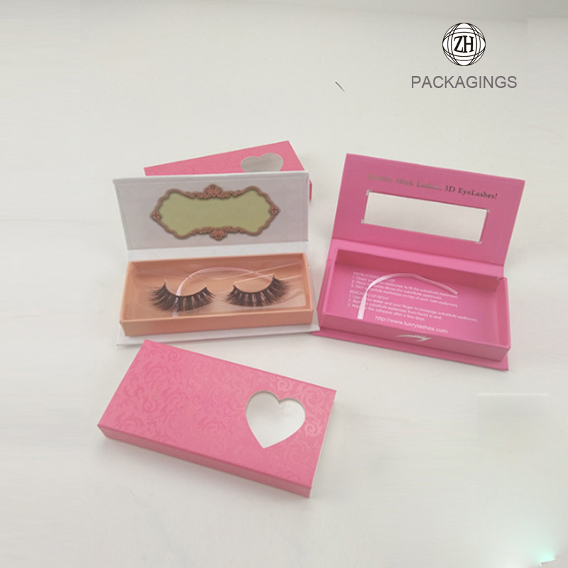 Hand made eyelash packaging false eyelashes box