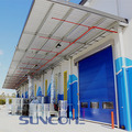 Exterior e interior Stacking Folding PVC Fabric Door