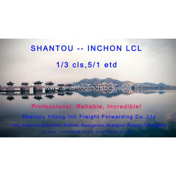 LCL Consolidation Shipping from Shantou to Inchon
