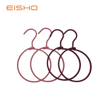 Big Discount for China Non Slip Hangers,Fabric Covered Hangers,Fabric Covered Coat Hangers Manufacturer and Supplier EISHO Metal Rings Rope Scarf Hangers export to United States Factories