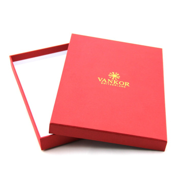 Custom Cardboard Red Apparel Gift Boxes Bulk