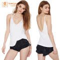 Backless Strap Halter Women V-Neck Sexy Tank Top