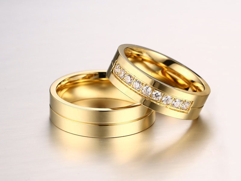minimalist wedding ring sets
