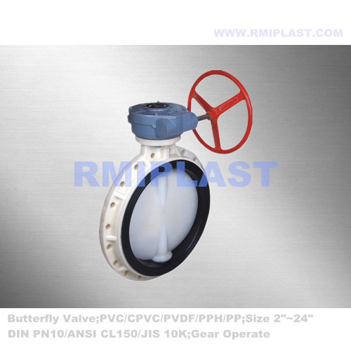 Corrosive Resistance Butterfly Valve PVDF