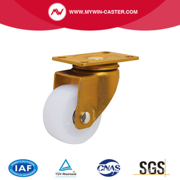 Nylon Wheel Heavy Duty Gold Color Industrial Caster