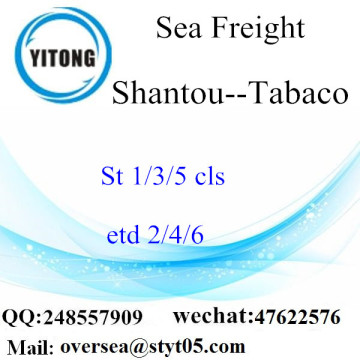 Shantou Port Sea Freight Shipping To Tabaco