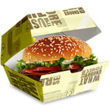 Disposable Hamburger Boxes Rice Chicken Roll Food Packing