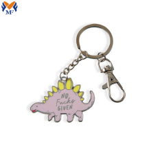 Metal dinosaur keychain with logo custom