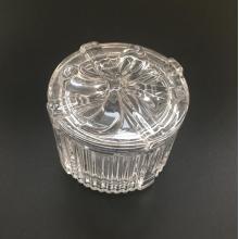 Round Bowknot Pattern Clear Jewelry Box/Candy Jar
