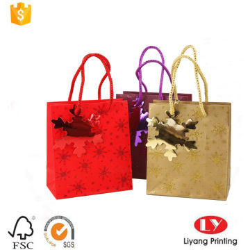 Wholesale paper gift bag with unique handle