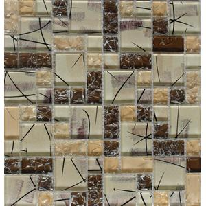 Mixed Size Fashion Cracked Glass Mosaic