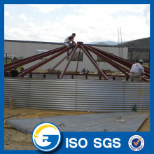 High Quality Industrial Factory for Hot-galvanized Silo Corrugated Grain Silo Steel Grain Silo export to Netherlands Exporter