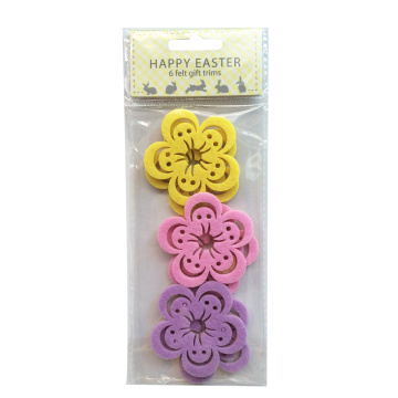 Colourful Easter flower shape sticker