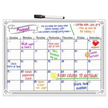 Custom Dry Erase Magnetic Calendar Board For Kid