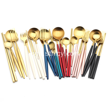 Plated Flatware Set Stainless Steel Cutlery