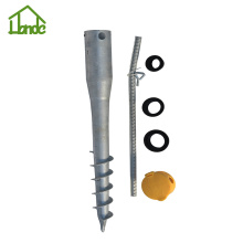 Earth ground screw pole anchor