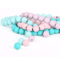 12mm round silicone loose teething beads