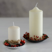 paraffin wax 7.5X10CM Unscented white Pillar Candle