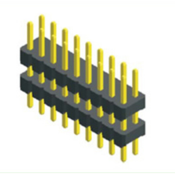 2.54mm Male Header Dual Row Double Plastic