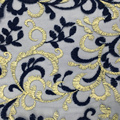 Elegant Two Tone Embroidery On Korea Mesh Fabric