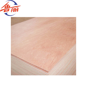 Veneer faced 1220 x 2440mm commercial plywood