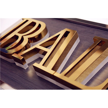 Outdoor Lighted Channel Letters Backlit Metal Sign