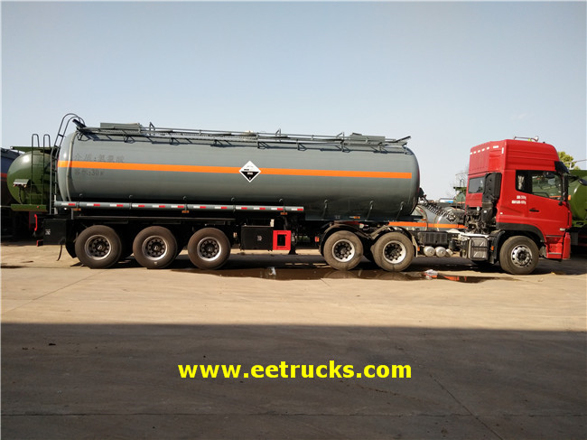 3 Axle 30 CBM Hydrochloric Acid Trailer Tanks