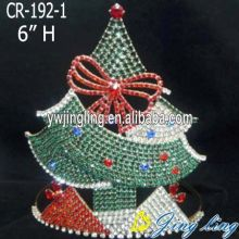 Fast Delivery for Snowflake Round Crowns Christmas Pageant Crown Tree Crowns supply to Niue Factory