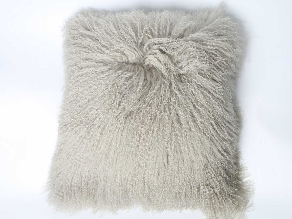 lamb fur cushion