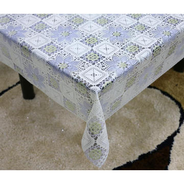 Printed pvc lace tablecloth by roll michaels