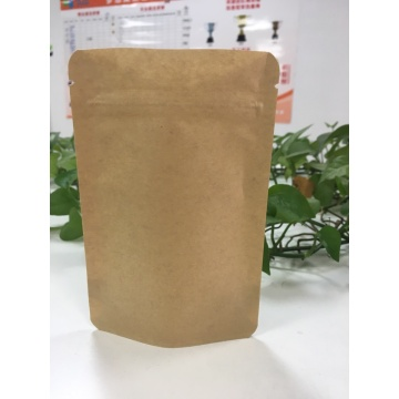 Zip Lock Block Bottom Paper Bag Biodegradable