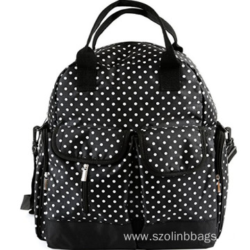 Trendy White Spot Fashionable Diaper Baby Backpack