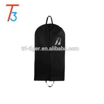 Clear plastics Window garment storage bag nonwoven suit cover