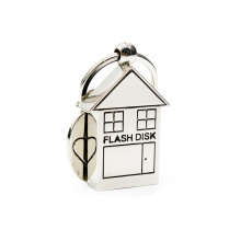 Metal house shape lovely usb flash drive