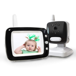 Wireless Video Baby Monitor with Two Cameras