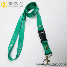 Custom Nylon Charm Sceen Printed Lanyards
