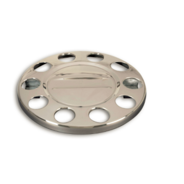 Car Polished stainless steel hub cap 22.5'