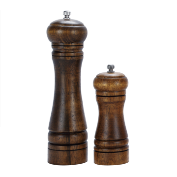 Traditional manual wooden pepper mill