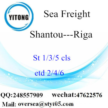 Shantou Port LCL Consolidation To Riga