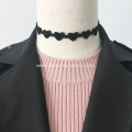 Black Charm Choker Heart-Shaped Lace Necklace For Lady