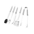 5PCS Stainless Steel Barbecue Set With Oxford Bag