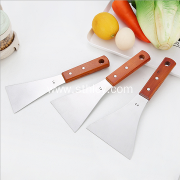 Stainless Steel Spatula Wooden Handle