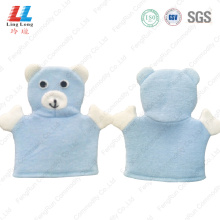 Blue bear lovely animal bath gloves