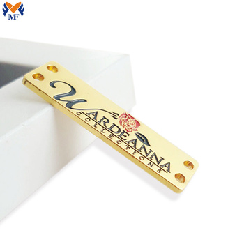 Gold plating metal brand logo label