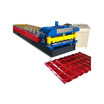 glazed making steel profile roll forming machine