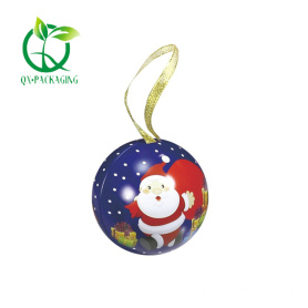 Christmas ball decorations tin box